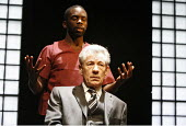 THE CUT   by Mark Ravenhill   director: Michael Grandage,rear: Jimmy Akingbola (John)   front: Ian McKellen (Paul),Donmar Warehouse / London WC2                   28/02/2006    ,