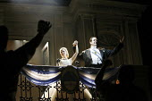 EVITA  music: Andrew Lloyd Webber  lyrics: Tim Rice  director: Michael Grandage ~Elena Roger (Eva Peron), Philip Quast (Juan Peron)~Adelphi Theatre, London WC2  21/06/2006 ~(c) Donald Cooper/Photostag...