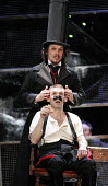 THE NOSE   by Dimitri Shostakovich   conductor: Patrick Bailey   director: John Fulljames,(front) Jeremy Huw Williams (Kovalyov), (rear) Simon Wilding (Doctor) ,The Opera Group / Brighton Festival / B...