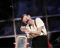 THE NOSE   by Dimitri Shostakovich   conductor: Patrick Bailey   director: John Fulljames,Kovalyov has found his nose: Jeremy Huw Williams (Kovalyov),The Opera Group / Brighton Festival / Brighton, Su...