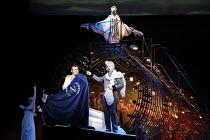 THE NOSE   by Dmitry Shostakovich   based on the story by Gogol   conductor: Valery Gergiev   director: Yury Alexandrov,l-r: Avgust Amonov (The Nose), Vladislav Sulimsky (Kovalev)   top: Rada Baklunov...