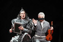 THE NOSE   by Dmitry Shostakovich   based on the story by Gogol   conductor: Valery Gergiev   director: Yury Alexandrov,l-r: Ilya Bannik (Head of Newspaper Advertisements Dept.), Vladislav Sulimsky (P...