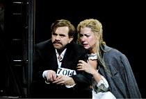 'LADY MACBETH OF MTSENSK' (Shostakovich)~as prisoners: Robert Brubaker (Sergei), Vivian Tierney (Katerina Ismailova)~English National Opera (ENO)/London Coliseum, London WC2  15/06/2001