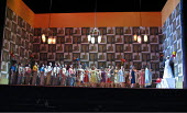 LADY MACBETH OF MTSENSK by Shostakovich - conductor: Antonio Pappano   director: Richard Jones~the wedding party   extreme right: Christopher Ventris (Sergey), Katarina Dalayman (Katerina Ismailova)~T...