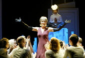 'ANYONE CAN WHISTLE' (Laurents/Sondheim)~centre: Paula Wilcox (Cora)~The Gryphon / Bridewell Theatre, London EC4              08/01/2003