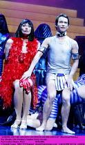'JOSEPH AND THE AMAZING TECHNICOLOR DREAMCOAT' (Rice/Lloyd Webber)~Kay Murphy (Mrs Potiphar), Stephen Gately (Joseph)~New London Theatre, WC2                      03/03/2003