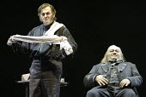 'SWEENEY TODD' (Sondheim - director: Neil Armfield)~l-r: Thomas Allen (Sweeney Todd), Jonathan Veira (Judge Turpin)~The Royal Opera /   Covent Garden, London WC2       15/12/2003