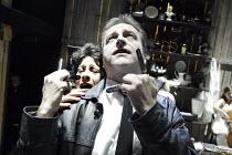 'SWEENEY TODD - THE DEMON BARBER OF FLEET STREET' (Sondheim/Wheeler - director/designer: John Doyle)~Karen Mann (Mrs Lovett), Paul Hegarty (Sweeney todd)~Watermill Theatre, Newbury   England...
