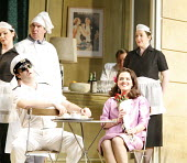 THE ELIXIR OF LOVE (L^ELISIR D^AMORE)   by Donizetti   conductor: Tecwyn Evans   director: Daniel Slater<br>,front left: Riccardo Simonetti (Belcore)   right: Anna Ryberg (Adina),Opera North / Leeds,...