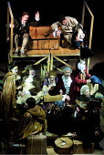 JUBILEE  by Peter Barnes  design: Robert Jones  lighting: Tim Mitchell  fights: Terry King  director: Gregory Doran <br>~Stratford-bound - Garrick and his Company en route for the Jubilee: (centre) Ke...