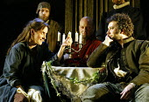 'THE TAMING OF THE SHREW' (Shakespeare)~front, left-right: Alexandra Gilbreath (Katherine), Jasper Britton (Petruchio)~Royal Shakespeare Company / Royal Shakespeare Theatre, Stratford-upon-Avon...