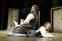 'THE TAMING OF THE SHREW' (Shakespeare),Jasper Britton (Petruchio), Alexandra Gilbreath (Katherine),Royal Shakespeare Company / Royal Shakespeare Theatre, Stratford-upon-Avon            09/04/2003,