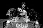 'THE SHREW' (adapted from Shakespeare's 'The Taming of the Shrew', and directed, by Charles Marowitz),centre: Thelma Holt ,Open Space Theatre, London WC1                 1975,