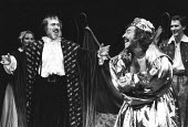 THE TAMING OF THE SHREW   by Shakespeare   director: Barry Kyle~front l-r: Raymond Bowers (The Lord), Geoffrey Freshwater (Christopher Sly)~Royal Shakespeare Company / Royal Shakespeare Theatre, Strat...