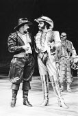 THE TAMING OF THE SHREW   by Shakespeare   director: Barry Kyle,l-r: Alun Armstrong (Petruchio), John Bowe (Tranio),Royal Shakespeare Company / Royal Shakespeare Theatre, Stratford-upon-Avon...