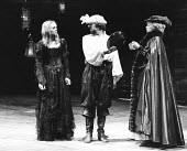 THE TAMING OF THE SHREW   by Shakespeare - director: Barry Kyle ,l-r: Sin�ad Cusack (Katherina), Alun Armstrong (Petruchio), Stephanie Fayerman (A Widow),Royal Shakespeare Company / Barbican Theatre,...