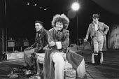 THE TAMING OF THE SHREW   by Shakespeare - director: Di Trevis <br>~l-r: Richard Garnett (Lucentio), Sonia Ritter (Biondello), Nick Dunning (Tranio) ~Royal Shakespeare Company (RSC), Regional Tour 198...