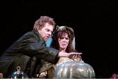 THE TAMING OF THE SHREW   by Shakespeare - director: Gale Edwards,IV/i: Michael Siberry (Petruchio), Josie Lawrence (Katherina) ,Royal Shakespeare Company / Royal Shakespeare Theatre   Stratford-upon-...