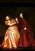 'THE TAMING OF THE SHREW' (Shakespeare)~l-r: Charlotte Randle (Bianca), Monica Dolan (Katherine)~RSC/The Pit  27/10/1999 ~(c) Donald Cooper/Photostage   photos@photostage.co.uk   ref/C3