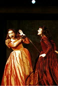 'THE TAMING OF THE SHREW' (Shakespeare)~l-r: Charlotte Randle (Bianca), Monica Dolan (Katherine)~RSC/The Pit  27/10/1999 ~(c) Donald Cooper/Photostage   photos@photostage.co.uk   ref/C6