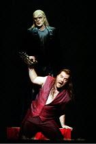 DON GIOVANNI  music: Mozart  libretto: da Ponte  conductor: Colin Davis  design: Maria Bjornson  lighting: Paul Pyant  director: Francesca Zambello ~final scene - the Commendatore sends Don Giovanni t...
