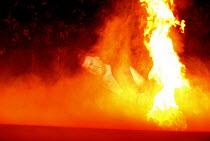 DON GIOVANNI  music: Mozart  libretto: da Ponte  conductor: Colin Davis  design: Maria Bjornson  lighting: Paul Pyant  director: Francesca Zambello ~final scene - Don Giovanni consumed by flames: Bryn...