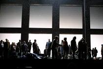 'FIDELIO' (Beethoven)~final scene: prisoners re-united with relatives/friends, etc.~Glyndebourne Festival Opera, E.Sussex, England  17/05/2001