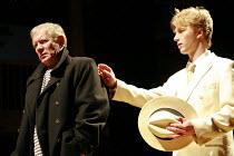 TWELFTH NIGHT   by Shakespeare   director: Declan Donnellan <br>,l-r: Mikhail Zhigalov (Antonio), Sergey Mukhin (Sebastian),Chekhov International Theatre Festival - Swan Theatre, Stratford-upon-Avon,...