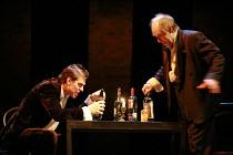 TWELFTH NIGHT   by Shakespeare   director: Declan Donnellan <br>,II/iii - l-r: Dmitry Dyuzhev (Sir Andrew Aguecheek), Alexander Feklistov (Sir Toby Belch),Chekhov International Theatre Festival - Swan...