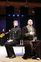 TWELFTH NIGHT   by Shakespeare   director: Declan Donnellan <br>,l-r: Andrey Kuzichev (Viola/Cesario), Vladimir Vdovichenkov (Orsino)   ,Chekhov International Theatre Festival,Swan Theatre, Stratford-...