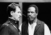 'OTHELLO' (Shakespeare)~l-r: Ian McKellen (Iago), Willard White (Othello)~Royal Shakespeare Company/The Other Place, Stratford-upon-Avon  1989