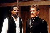 'OTHELLO' (Shakespeare - director: Trevor Nunn)~l-r: Willard White (Othello), Ian McKellen (Iago)~Royal Shakespeare Company / The Other Place   Stratford-upon-Avon  1989