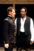 'OTHELLO' (Shakespeare - director: Trevor Nunn)~l-r: Ian McKellen (Iago), Willard White (Othello)~Royal Shakespeare Company / The Other Place   Stratford-upon-Avon  1989