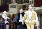 RICHARD II  by Shakespeare  Master of Properties (designer): Jenny Tiramani  Master of Fights: John Waller  Master of Play (director): Tim Carroll  ~Vii - l-r: Richard Glaves (Lady-in-waiting), Michae...