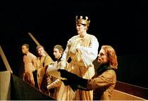 RICHARD II   by Shakespeare design: Hildegard Bechtler lighting: Peter Mumford director: Deborah Warner~centre: Fiona Shaw (Richard II)~Cottesloe Theatre / National Theatre, London  02/06/1995