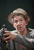 THE TEMPEST  by Shakespeare  designer: Robert Innes Hopkins  lighting: Peter Mumford  director: Jude Kelly ~Ian McKellen (Prospero)~West Yorkshire Playhouse, Leeds, England  09/02/1999~(c) Donald Coop...