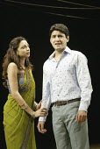 'TWELFTH NIGHT' (Shakespeare - director: Stephen Beresford)~Neha Dubey (Olivia), Raaghav Chanana (Sebastian)~Albery Theatre, London WC2                 26/08/2004