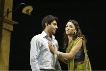 'TWELFTH NIGHT' (Shakespeare - director: Stephen Beresford)~Raaghav Chanana (Sebastian), Neha Dubey (Olivia)~Albery Theatre, London WC2                 26/08/2004