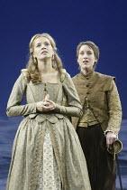 'TWELFTH NIGHT' (Shakespeare - director: Stephen Unwin)~l-r: Catherine Walker (Olivia), Georgina Rich (Viola/'Cesario')~English Touring Theatre / Oxford Playhouse                  16/09/2004