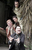 'TWELFTH NIGHT' (Shakespeare - director: Timothy Sheader),II/v - Boxtree scene, from top: James Loye (Sir Andrew Aguecheek), Giles Taylor (Fabian), Desmond Barrit (Sir Toby Belch), Martin Jarvis (Malv...