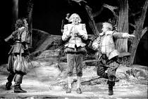 'TWELFTH NIGHT'~l-r: Nigel Cooke (Sebastian), Daniel Massey (Sir Andrew Aguecheek), John Thaw (Sir Toby Belch)~RSC / RST 1983