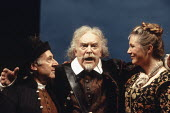 'TWELFTH NIGHT' (Shakespeare - director: Ian Judge),l-r: Robert Gillespie (Fabian), Tony Britton (Sir Toby Belch), Joanna McCallum (Maria),Royal Shakespeare Company / Royal Shakespeare Theatre     Str...
