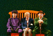 TWELFTH NIGHT by Shakespeare   director: Adrian Noble~l-r: Malcolm Scates (Fabian), John Quayle (Sir Andrew Aguecheek), David Calder (Sir Toby Belch)~RSC/RST  11/1997