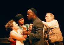 'TWELFTH NIGHT'~l-r: Sarah C. Cameron (Olivia), Thusitha Jayasundera (Viola), Leo Wringer (Orsino), Ian Taylor (Fabian)~Young Vic  02/06/1998 ~(c) Donald Cooper/Photostage   photos@photostage.co.uk...