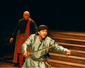 'TWELFTH NIGHT'~Nitin Chandra Ganatra (Sebastian): (rear) Andy Williams (Sir Andrew Aguecheek)~Young Vic  02/06/1998 ~(c) Donald Cooper/Photostage   photos@photostage.co.uk   ref/A5