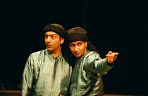 'TWELFTH NIGHT' (Shakespeare)~l-r: Nitin Chandra Ganatra (Sebastian), Thusitha Jayasundera (Viola)~Young Vic  02/06/1998 ~(c) Donald Cooper/Photostage   photos@photostage.co.uk   ref/B11