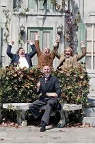 'TWELFTH NIGHT' (Shakespeare - director: Rachel Kavanaugh),front: Christopher Godwin (Malvolio)   rear, l-r: Peter Forbes (Sir Toby Belch), Tony Whittle (Fabian), Paul Raffield (Sir Andrew Aguecheek)...