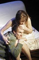 HAMLET  by Shakespeare  design: Laura Hopkins  lighting: Mark Jonathan  fights: Terry King  director: Rupert Goold <br> Tobias Menzies (Hamlet), Jane Birkin (Gertrude) Royal Theatre, Northampton, En...