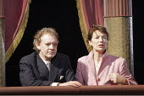HAMLET  by Shakespeare  design: Laura Hopkins  lighting: Mark Jonathan  fights: Terry King  director: Rupert Goold <br> watching 'The Mousetrap': Jane Birkin (Gertrude), Hilton McRae (Claudius), Roy...