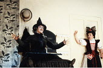 INTO THE WOODS   music & lyrics: Stephen Sondheim   book: James Lapine   director: Richard Jones <br>,l-r: Julia McKenzie (Witch), Imelda Staunton (Baker^s Wife)   ,Phoenix Theatre, London WC2...